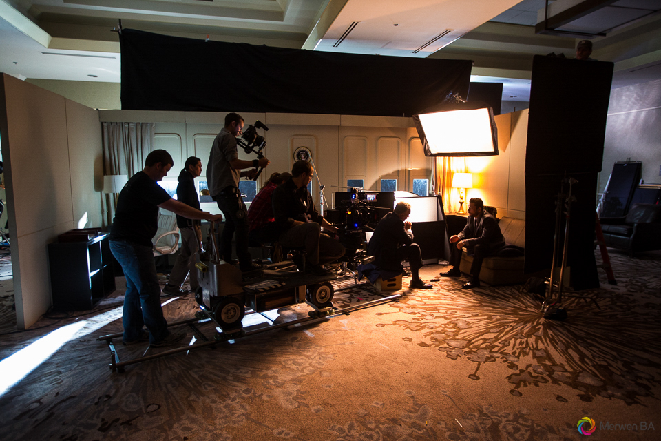 Camera crew recording the nighttime scene in the Air Force One interior from the Swing Vote movie. Review of MZed Illumination Experience, film making and cinematography Workshop with Hollywood Cinematographer Shane Hurlbut by wedding photographer Leo Dj Photography. http://leodjphoto.com