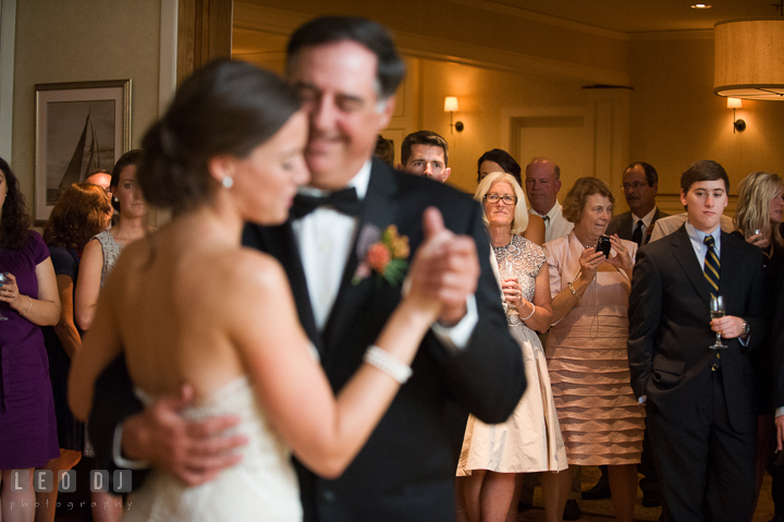 Mother of Bride observing Father-Daughter dance. Aspen Wye River Conference Centers wedding at Queenstown Maryland, by wedding photographers of Leo Dj Photography. http://leodjphoto.com