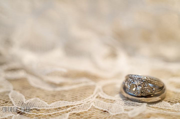 Bride and Groom's wedding band and engagement ring. Aspen Wye River Conference Centers wedding at Queenstown Maryland, by wedding photographers of Leo Dj Photography. http://leodjphoto.com