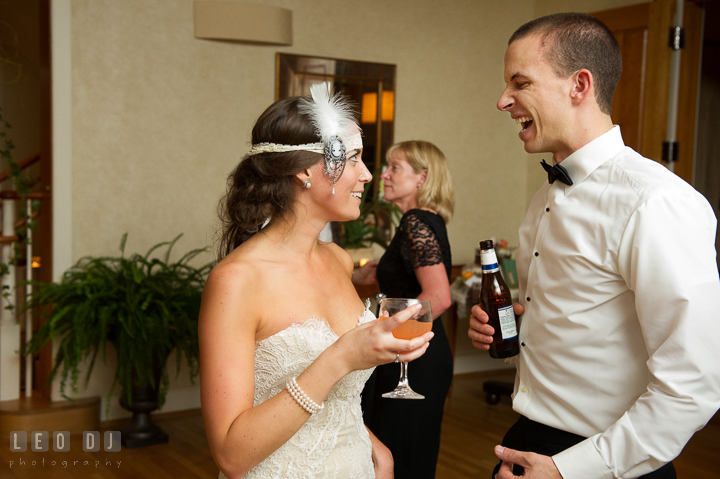 Bride and Groom dancing and singing together. Aspen Wye River Conference Centers wedding at Queenstown Maryland, by wedding photographers of Leo Dj Photography. http://leodjphoto.com