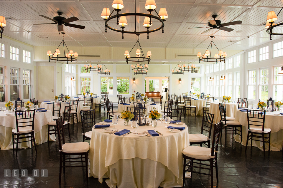 The Tavern Dining Hall For Wedding Reception Kent Island Maryland Chesapeake Bay Beach Club